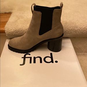 Grey Heel Boots